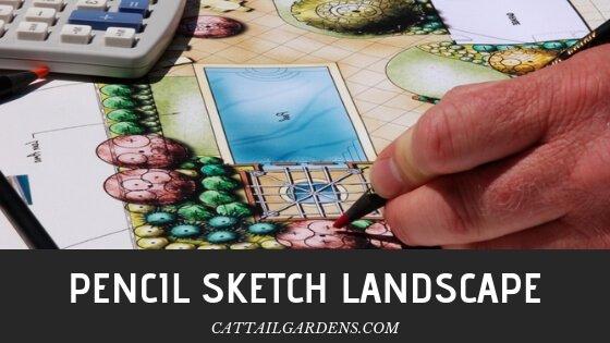 pencil sketch landscape