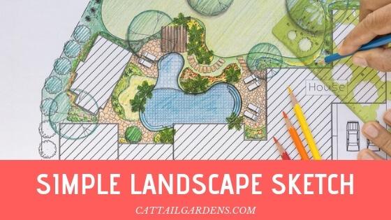 simple landscape sketch