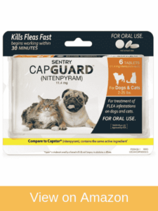 SENTRY Capguard (nitenpyram)  - best oral flea treatment for cats