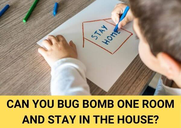 can you bug bomb one room and stay in the house