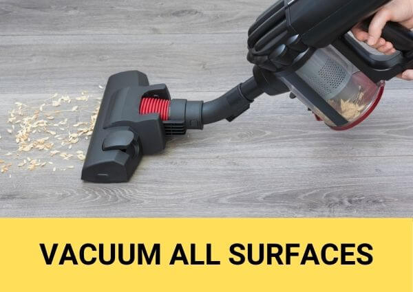 vacuum all surfaces